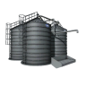 potato wash silo